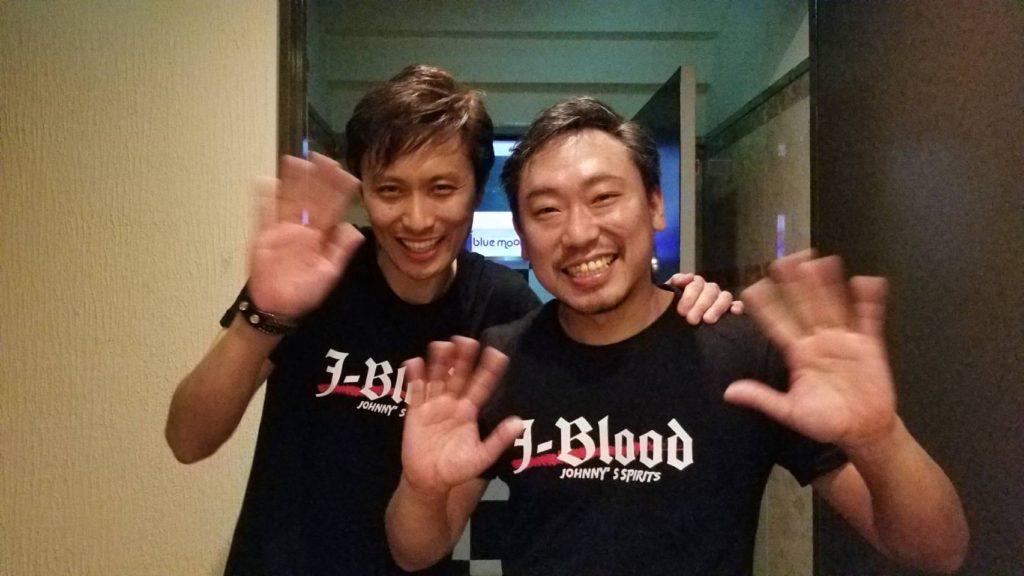 J-BLOOD-ライブを終えて兄弟そろって!